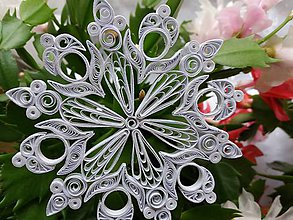 Dekorácie - Vianočná vločka - 11381357_