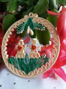 Dekorácie - Vianočná dekorácia - Dvaja - 11381385_