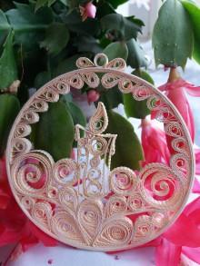 Dekorácie - Vianočná dekorácia so sviečkou - 11381406_