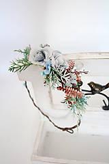 Ozdoby do vlasov - Zimný venček - KRISTINA - 11379042_
