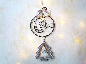 Dekorácie - vtáčik so stromom - 11378359_