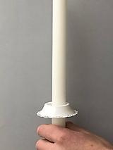 Svietidlá a sviečky - Chránitko na sviečku na kvapkajúci vosk - 11381784_