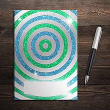 Papiernictvo - Zápisník Magic geometry - kruhy - 11380722_