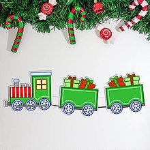Dekorácie - Vianočný vláčik - girlanda - 11380900_