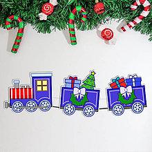 Detské doplnky - Vianočný vláčik - girlanda 2 - 11381043_