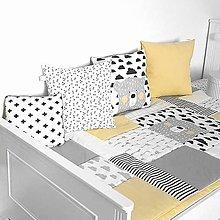 Úžitkový textil - Kolekcia NORDIC prehoz obojstranný 90x200/3ks vankusov 40x40cm - 11384040_