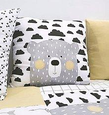 Textil - Vankus s aplikaciou macka z kolekcie Nordic detska izba 40x40cm - 11384104_