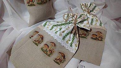 Úžitkový textil - Vrecko na sušené huby - 11382049_