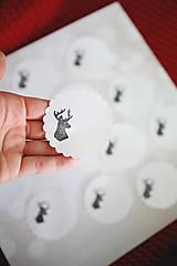 Papiernictvo - Vianočné nálepky na darčeky - 11383128_