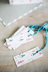Papiernictvo - Menovky na darčeky - vianočné - 11384113_