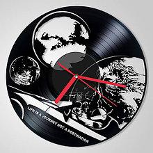 Hodiny - Tesla, Starman, Earth, Moon, Mars - vinylové hodiny (vinyl clocks) - 11382323_