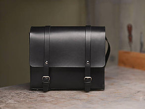 Kabelky - Kožená kabelka- Horse handbag čierna - 11384799_