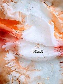 Šály - Šál hodvábny - farby jesene - 11382087_