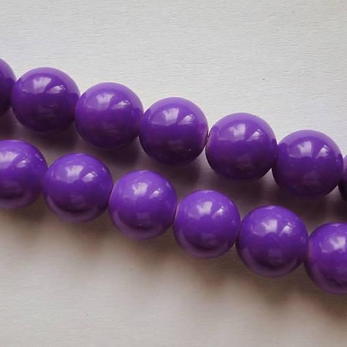 Sklenené korálky Panacolor ™ 10mm-1ks (fialová)