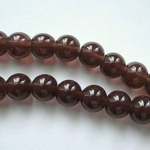 Sklenené korálky Candy Jade Beads™-8mm-10ks (hnedá)