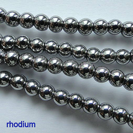 CrystaLine Beads™-4mm-1ks (rhodium)