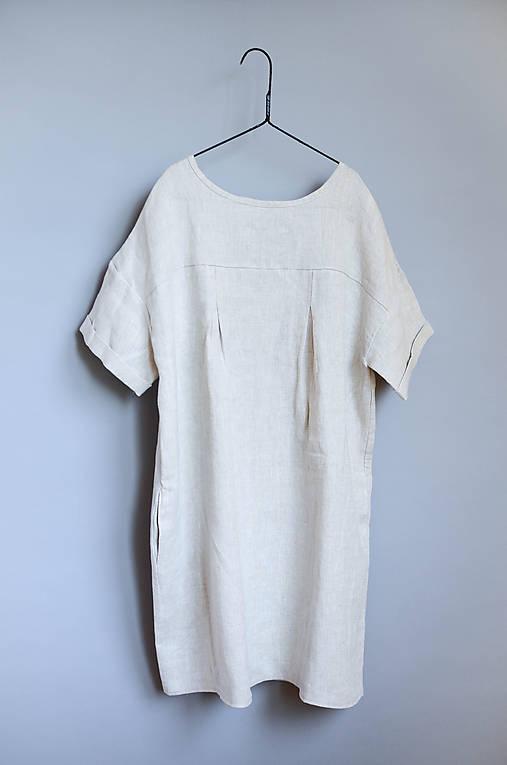 Šaty - Šaty NORA prírodné - 11382098_