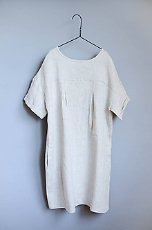 Šaty - Šaty NORA prírodné (S) - 11382098_