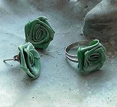 Sady šperkov - vintage sada romantika ružičky v zelenom - 11382030_