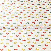 Textil - zemité lístky, 100 % bavlna Francúzsko, šírka 150 cm - 11382926_