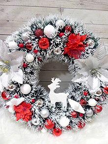 Dekorácie - Vianočný veniec - 11384353_
