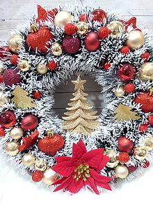 Dekorácie - Vianočný veniec - 11384380_