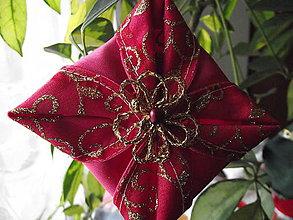 Drobnosti - vianočná ozdoba (Ružová) - 11382055_