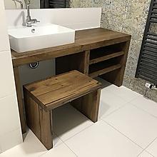 """Nábytok - Stolík pod umývadlo """" starý dub 3 """" - 11385385_"""