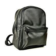 Batohy - Praktický kožený ruksak v čiernej farbe - 11383928_