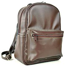 Batohy - Praktický kožený ruksak v hnedej farbe - 11383971_