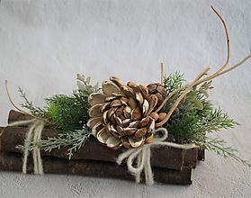 Dekorácie - Vianoce na prírodno - dekorácia 48 - 11382407_