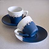 Nádoby - Elegantný párik - sada 2 espresso šálok - 11382702_