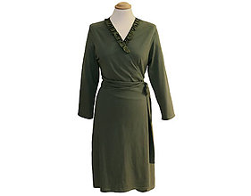 Šaty - Rebecca dress - zavinovacie šaty, dlhý rukáv - 11384210_