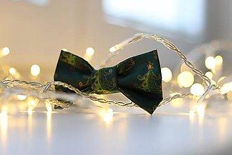 Pre zvieratká - Christmas Trees Bow Tie - 11383852_