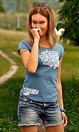 Tričká - Denim Folk tričko - skladom XS - 11382782_