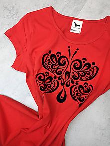 Tričká - Tričko Red Butterfly - Skladom S - 11382852_