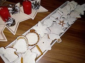 Dekorácie - Medovníčky  s bielou polevou - 11384311_
