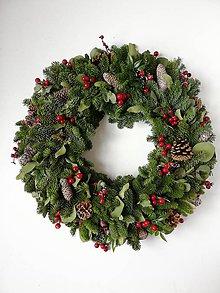 Dekorácie - Vianočný veniec XL 63cm - 11383566_