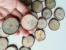 Borovicové kolieska (priemer cca 3,5 cm)