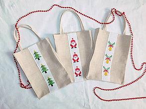 Iné tašky - Plátenná taška s ručnou výšivkou - 11382451_