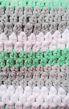 Textil - Háčkovaná deka 40x80cm - 11381920_