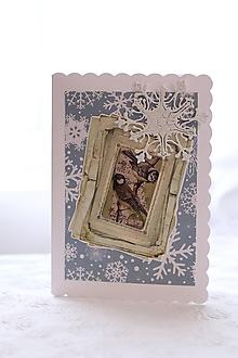 Papiernictvo - Vianočná pohľadnica: Sýkorky - 11383988_