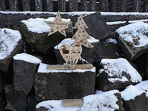 Dekorácie - Drevené vianočné ozdoby - 11383816_
