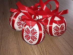 """Dekorácie - Vianočná guľa """"NÓRSKA VLOČKA"""" - 11383170_"""