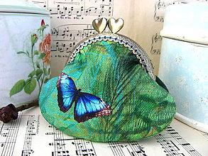 Peňaženky - Minitaštička Malá motýlovka - 11381998_