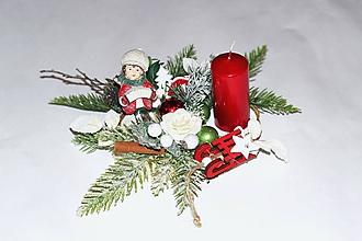 Dekorácie - Svietnik vianočný3 - 11384657_