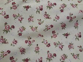 Textil - Ružičky na vanilkovej š.140 - 11384038_