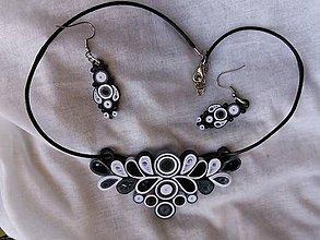 Sady šperkov - Čierna a biela - sada šperkov - 11384370_