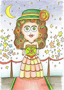 Kresby - Detská ilustrácia - hviezda showbiznisu - 11383530_