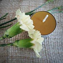 Svietidlá a sviečky - Čajová sviečka z pravého včelieho vosku 1ks - 11386626_